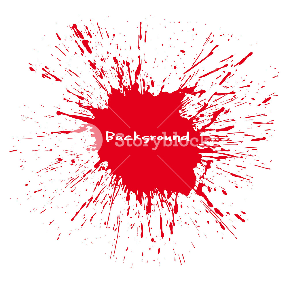 1000x985 Large Red Blood Splash Vector Background Royalty Free Stock Image
