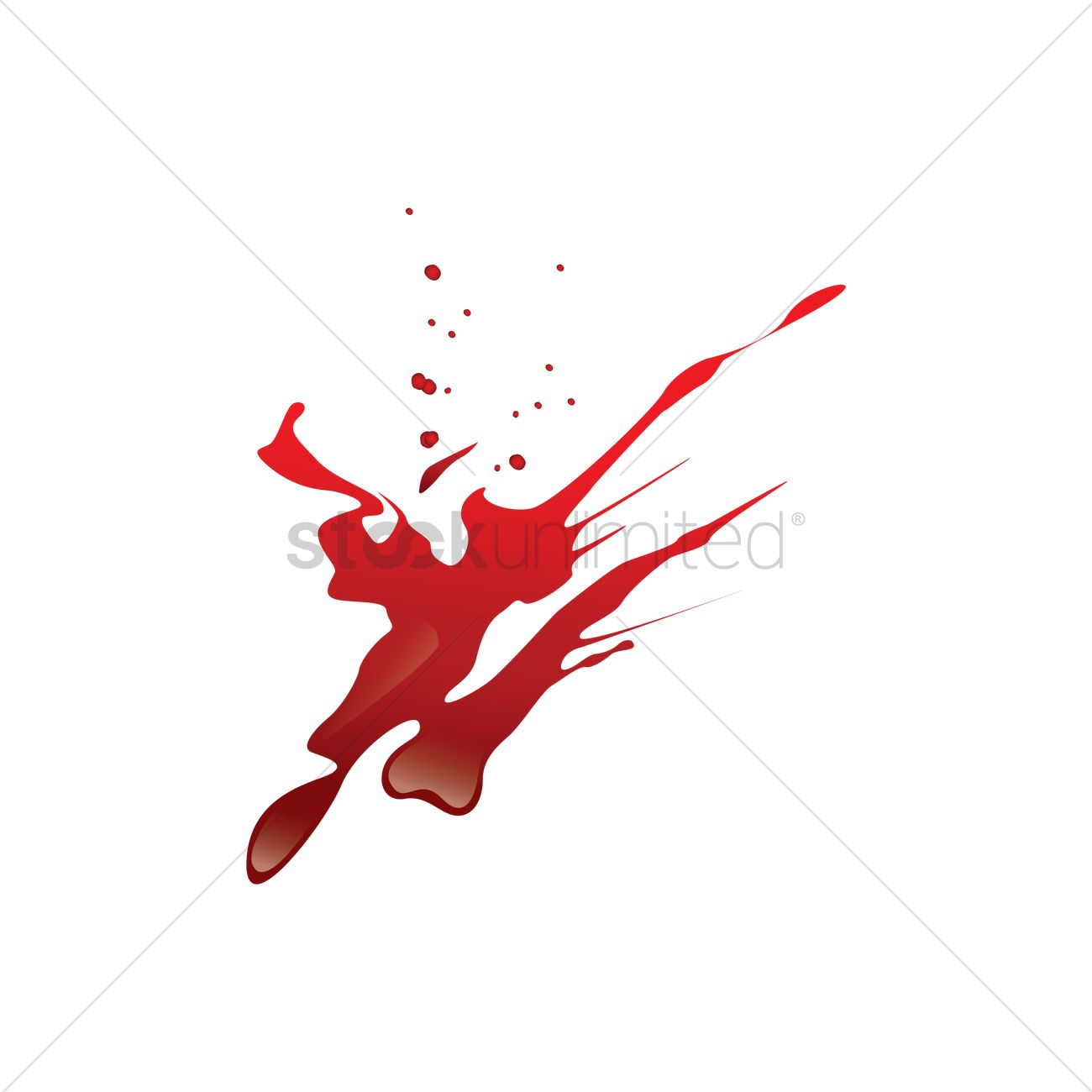 1300x1300 Blood Spatter Vector Image