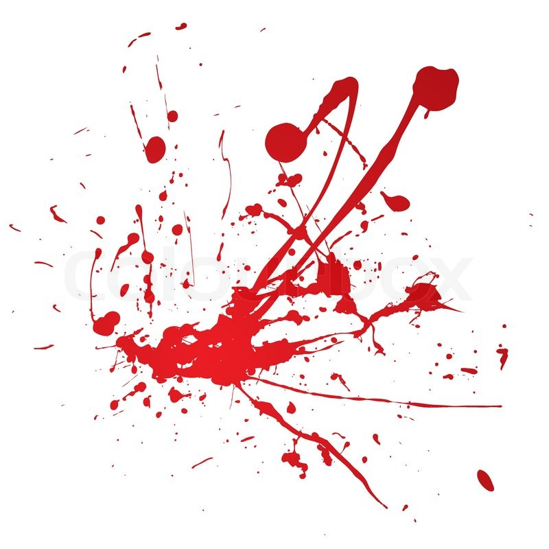 800x800 Blood Spray Splat Isolated Over A White Background Stock Vector