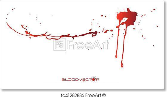 560x330 Free Art Print Of Abstract Blood Splatter Isolated On White