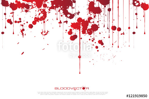 500x332 Abstract Blood Splatter Isolated On White Background, Vector Des