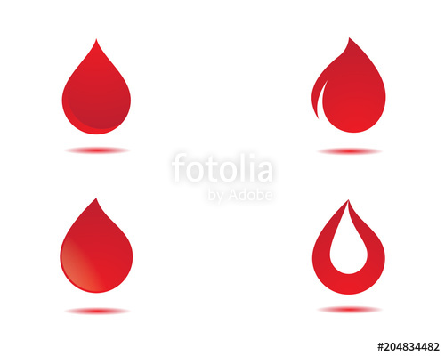 500x400 Blood Vector Icon Illustration Design Stock Image And Royalty