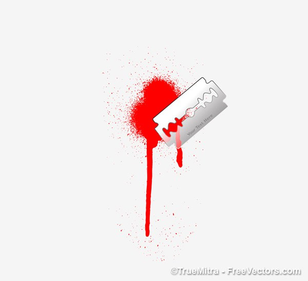 600x547 Download Free Blade With Blood Vector Illustration