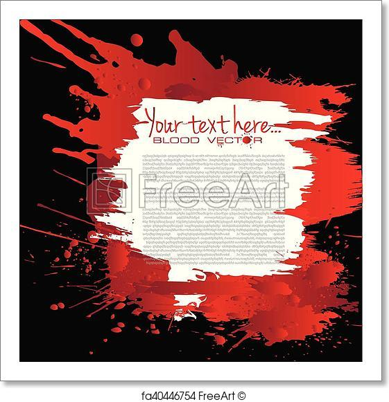 561x581 Free Art Print Of Abstract Blood Splatter Isolated On Black