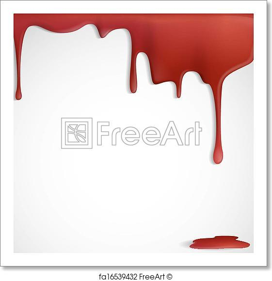 561x581 Free Art Print Of Dripping Red Blood. Dripping Red Blood. Vector