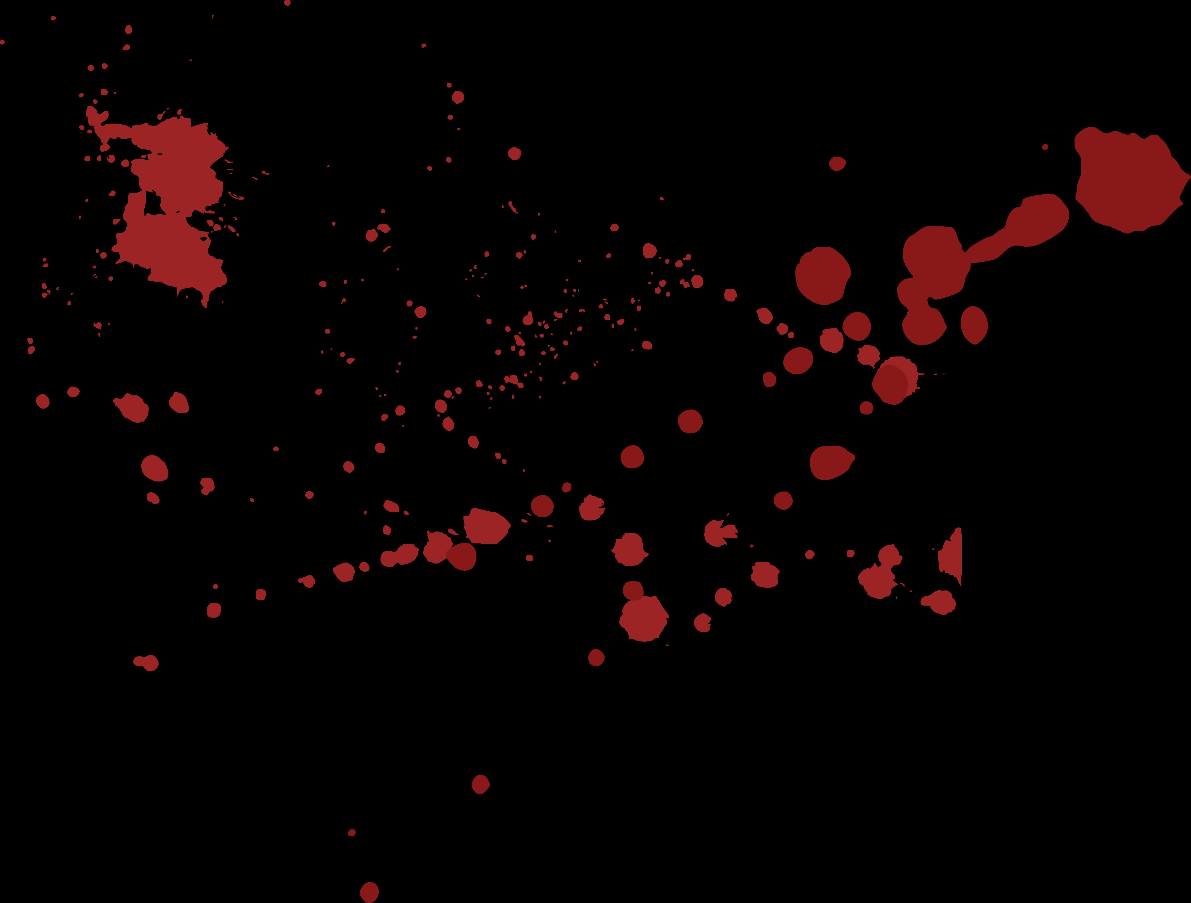 4980x3777 Blood Euclidean Vector Splatter Film Clip Art