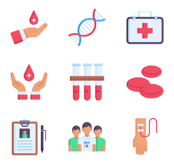 600x564 Blood Donation Icons