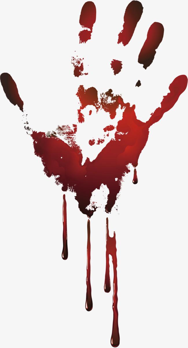 650x1200 Vector Handprints For Blood Drops, Vector Diagram, Handprints