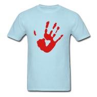 190x190 Shop Bloody Handprint T Shirts Online Spreadshirt