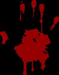 200x255 Blood Clipart Handprint ~ Frames ~ Illustrations ~ Hd Images