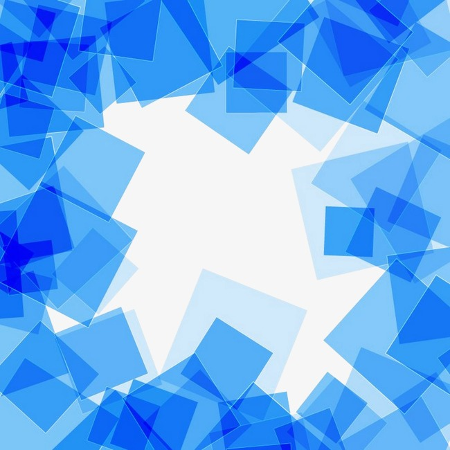 650x650 Blue Square Abstract Background Vector Material, Geometric