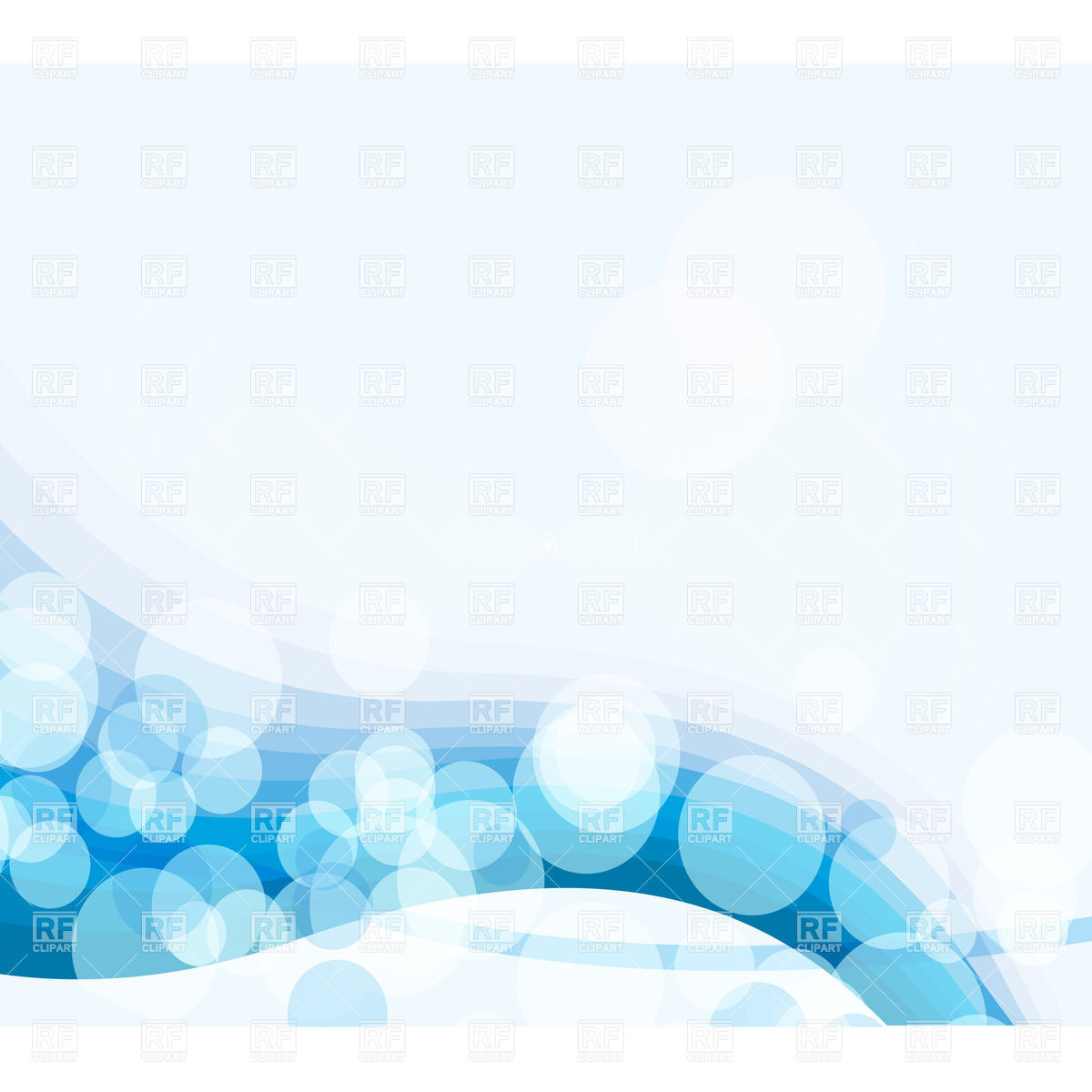1200x1200 Blue Abstract Background With Wave And Glare Circles Vector Image