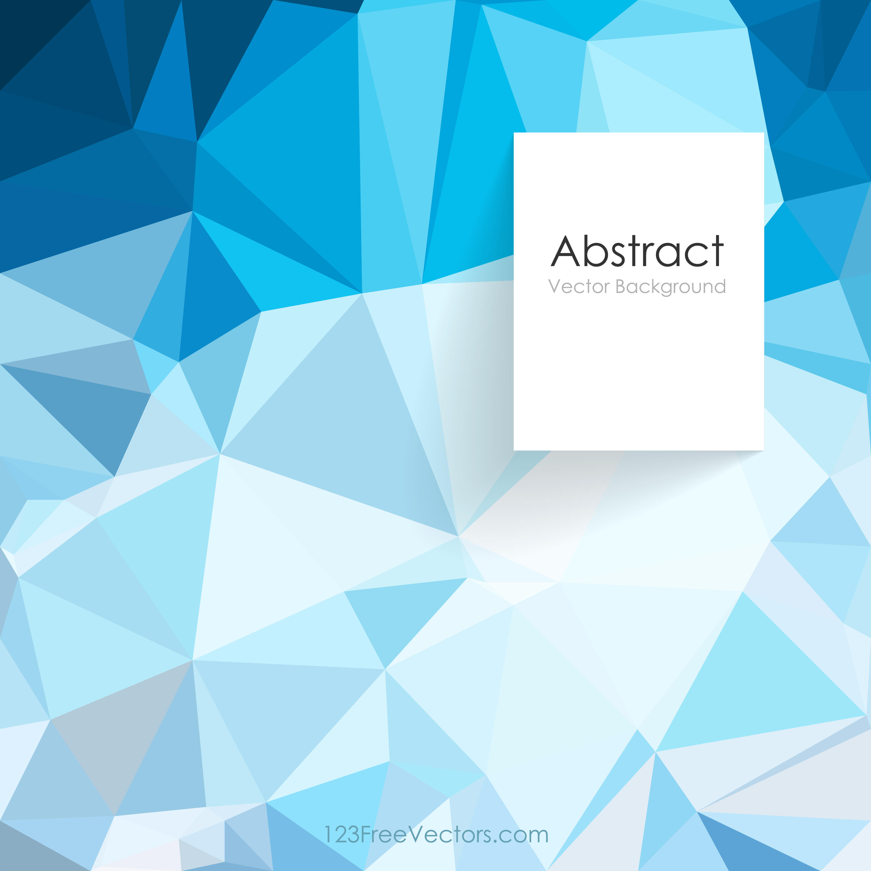 3333x3333 Blue Abstract Geometric Polygon Background Vector 123freevectors