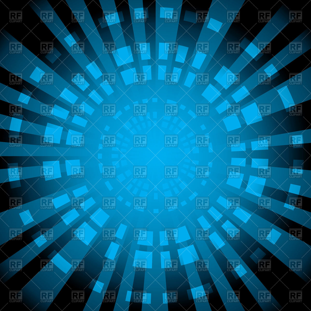 1200x1200 Blue Abstract Background With Radial Rays Vector Image Vector