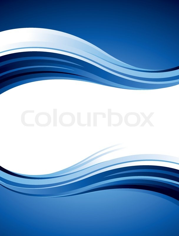 608x800 Blue Abstract Vector Design With Waves And Curves Stock Vector