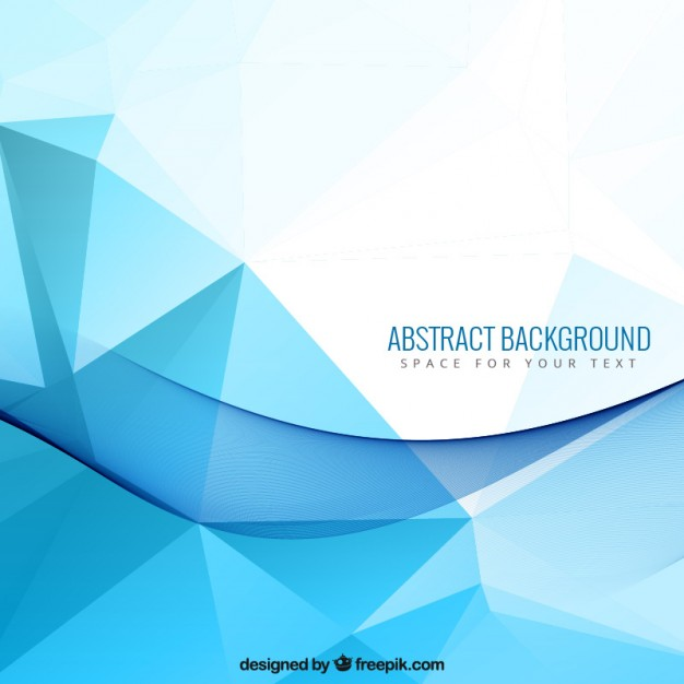 626x626 Abstract Background With Blue Polygons Vector Free Download
