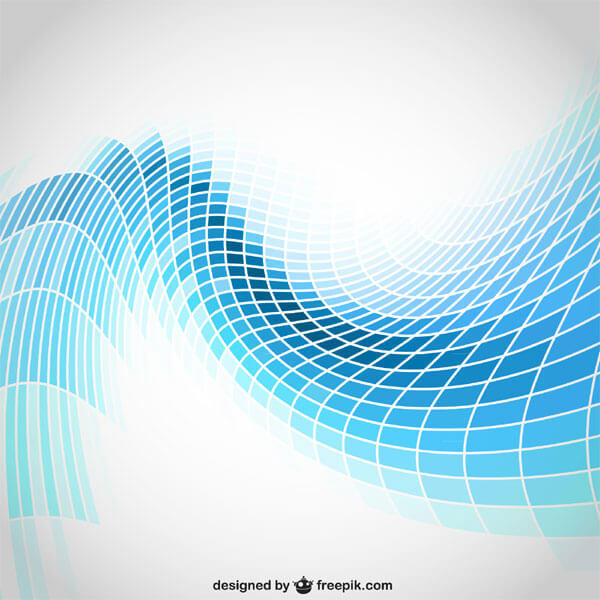 600x600 Abstract Wavy Blue Tiles Background Vector 123freevectors