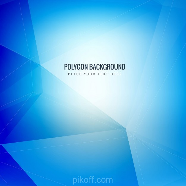 626x626 Ai] Blue Polygonal Background Vector Free Download