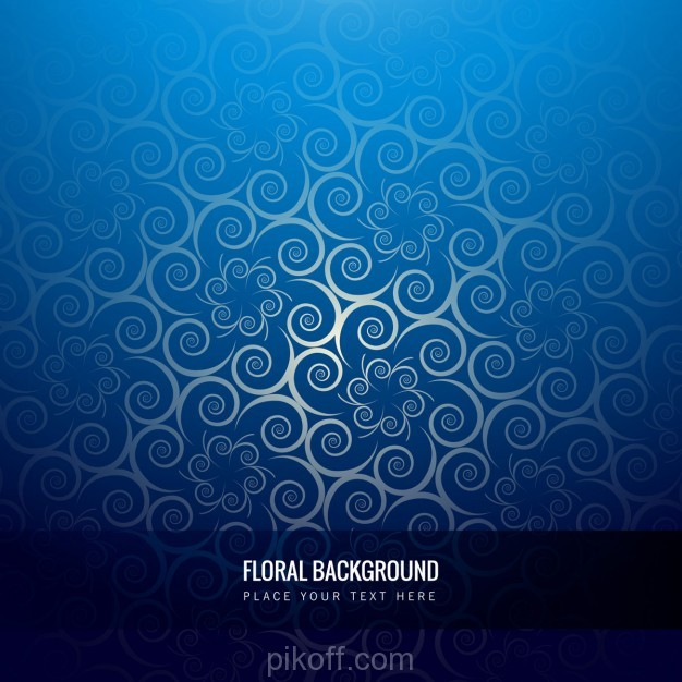 626x626 Ai] Shiny Blue Floral Background Vector Free Download