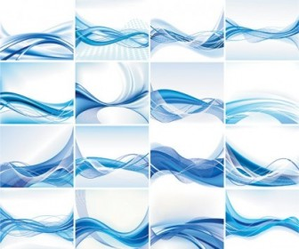 336x280 Dynamic Lines Of The Blue Background Vector Background Vector Art