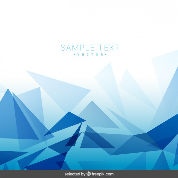 626x626 Polygonal Blue Background Vector Free Download