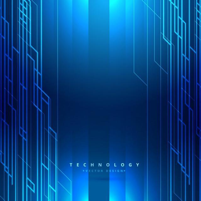 640x640 Technology Digital Blue Background Vector Design Illustration