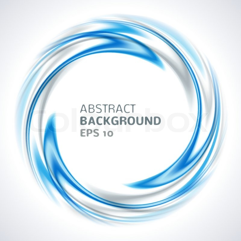 800x800 Abstract Blue And Silver Swirl Circle Bright Background. Vector
