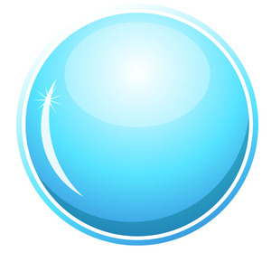300x300 Glossy Blue Circle Vector