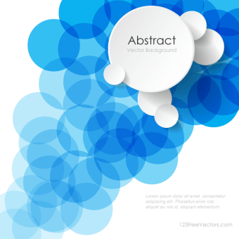 340x340 Modern Abstract Blue Circle Background Illustrator Image