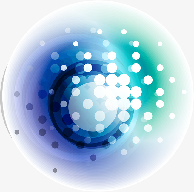 650x643 Blue Circle Dot Technology Code, Blue Vector, Circle Vector, Dot