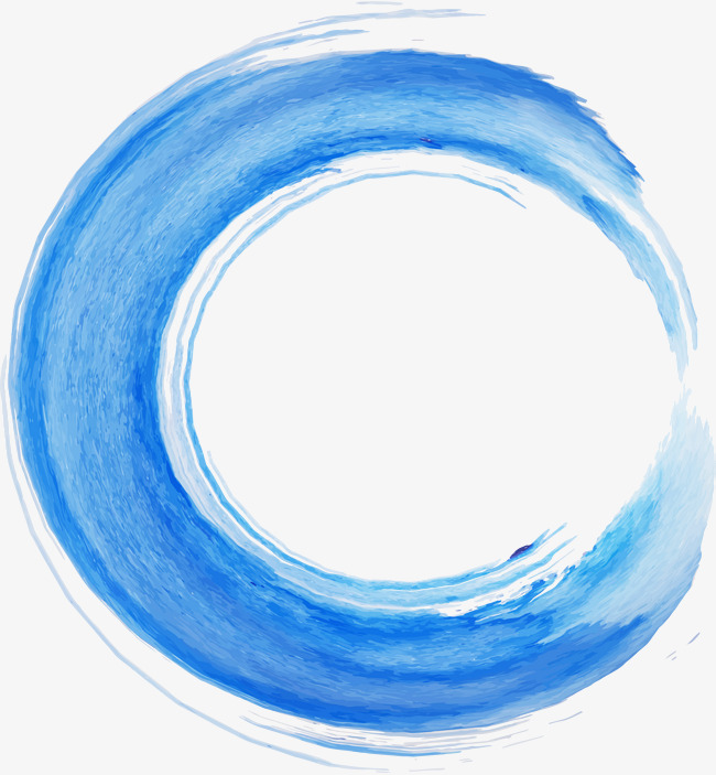 650x703 Blue Circle Watercolor Brush, Vector Material, Blue Brush, Brush