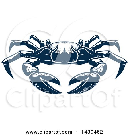 450x470 Clipart Of A Navy Blue Crab