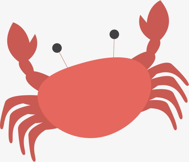 650x557 Crab Vector Art