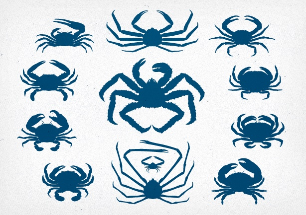 614x433 Crab Vector Pack Nick Botner