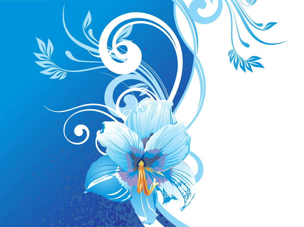 1024x765 Background With Blue Flowers Vector Art Amp Graphics