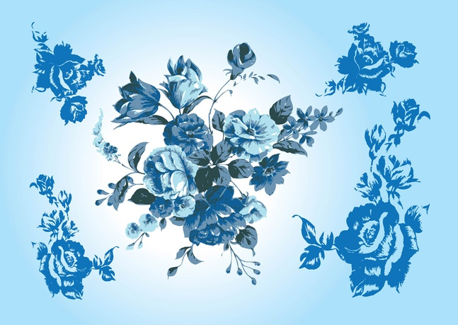 647x459 Blue Flower Vectors Vector Free Download