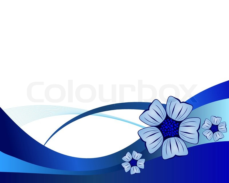 800x640 Blue Flower Vector Background For Use In Web Design Stock Vector