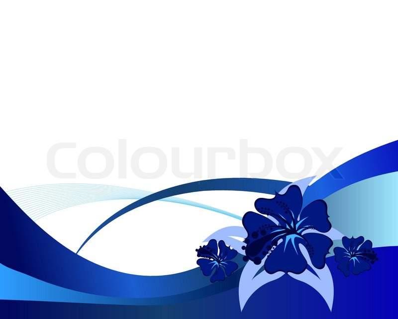 800x640 Floral Vector Background With Leaves And Flowers Stock Vector