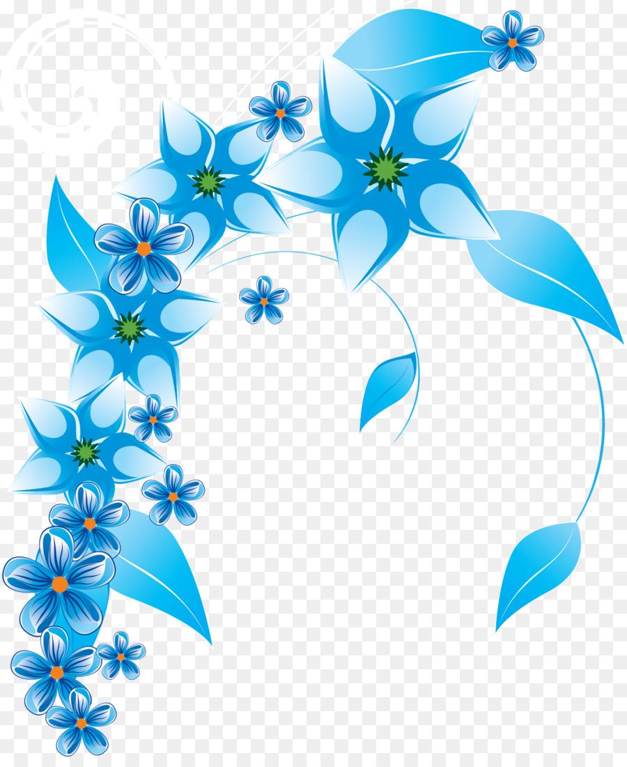 900x1100 Flower Blue Clip Art
