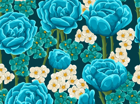 452x336 Hand Painted Blue Flower Vector Background Free Vector