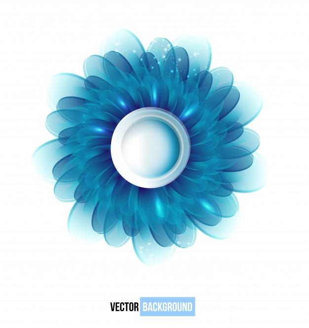 626x665 Vector Chrysanthemum Blue Flower Vector Card. Vector Free Download