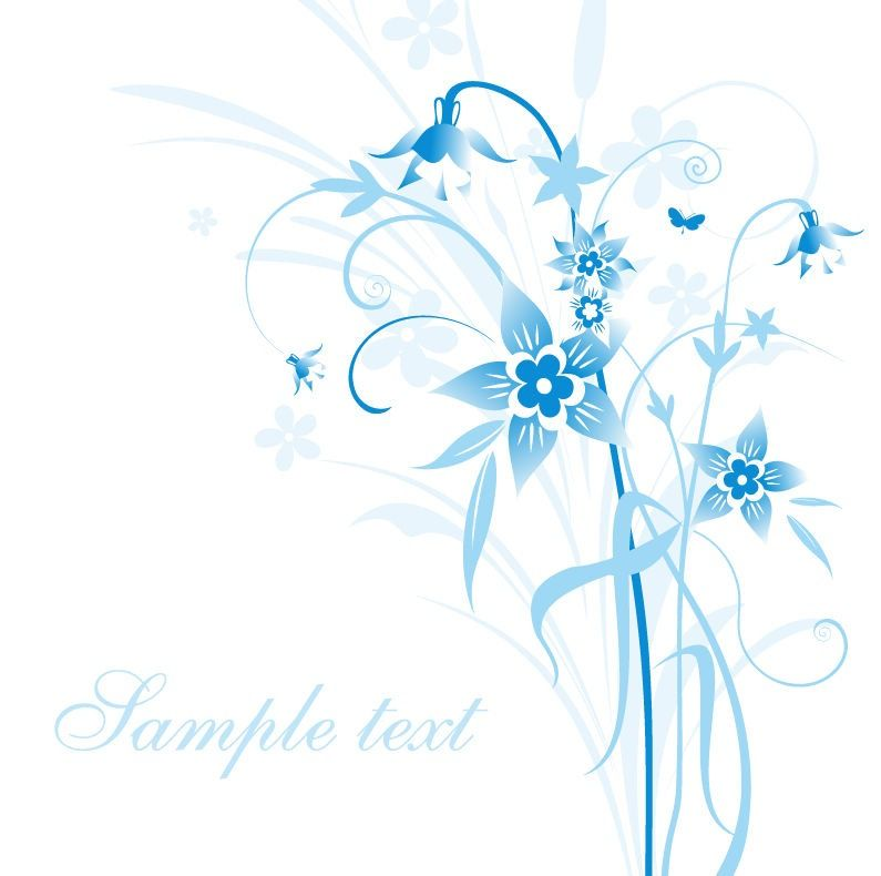 795x790 Light Blue Abstract Light Blue Floral Vector Illustration