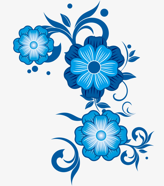 650x736 Blue Flower Vector, Blue Vector, Flower Vector, Flower Clipart Png