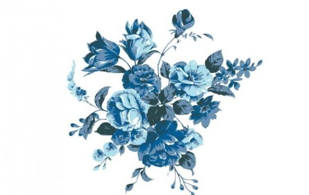 626x396 Blue Flowers Bundle Vector Vector Free Download