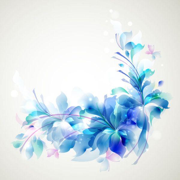 600x601 Flowers Background Blue Flower Vector Vintagedgingse
