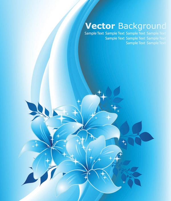 600x706 Beautiful Blue Flowers Vector Free Vector 4vector