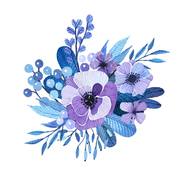 626x626 Hand Painted Floral Design Vector Free Download