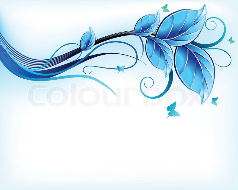 800x637 Blue Floral Background Vector Stock Vector Colourbox