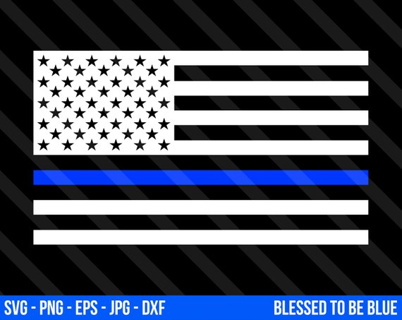 570x453 Blue Lives Matter Flag Svg Vector Png Eps Jpg Dxf Thin Blue Etsy