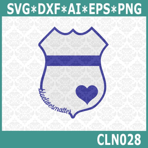 570x570 Cln028 Blue Lives Matter Police Badge Set Svg Dxf Png Ai Eps Etsy
